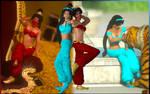 Jasmine for XPS! (Princess + Jaffar Slave Outfits)