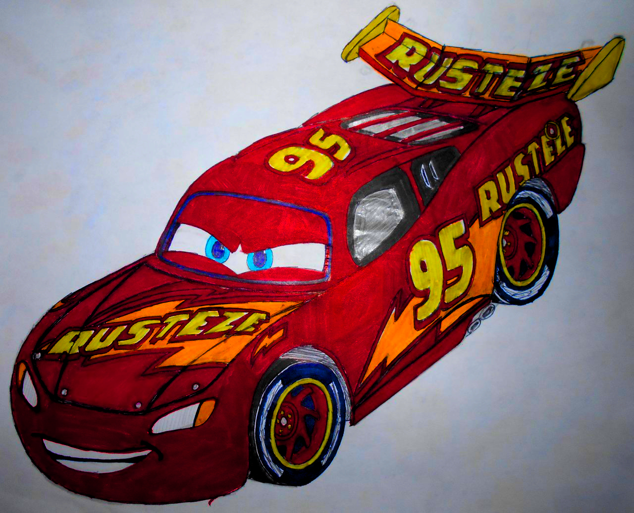 Cars 3: Next-Generation Lightning McQueen 2.0 muro by sgtjack2016