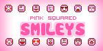 Pink Squared Smileys