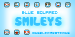 Blue Squared Smileys by overainbowz