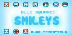 Blue Squared Smileys