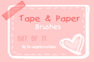 Tape and Paper Brushes by overainbowz