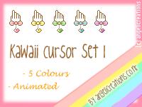 Kawaii Cursor Set 1 by overainbowz