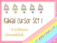 Kawaii Cursor Set 1 by overainbowz