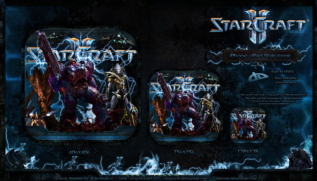 StarCraft 2 - iPad-Style Icons by Crussong