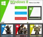 Metro-Icons for Windows 8 - Free PSD