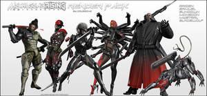 Metal Gear Rising Revengeance - Render Pack