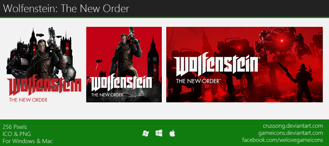 Wolfenstein: The New Order - Icon 2 by Crussong
