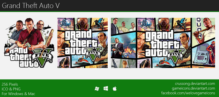 Grand Theft Auto V - Icon by Crussong