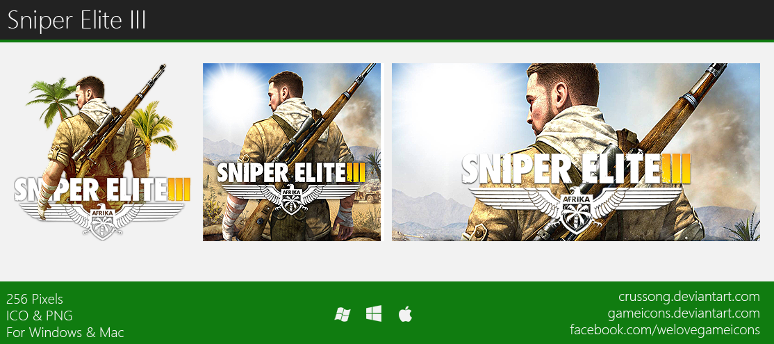 Sniper Elite III - Icon by Crussong on DeviantArt