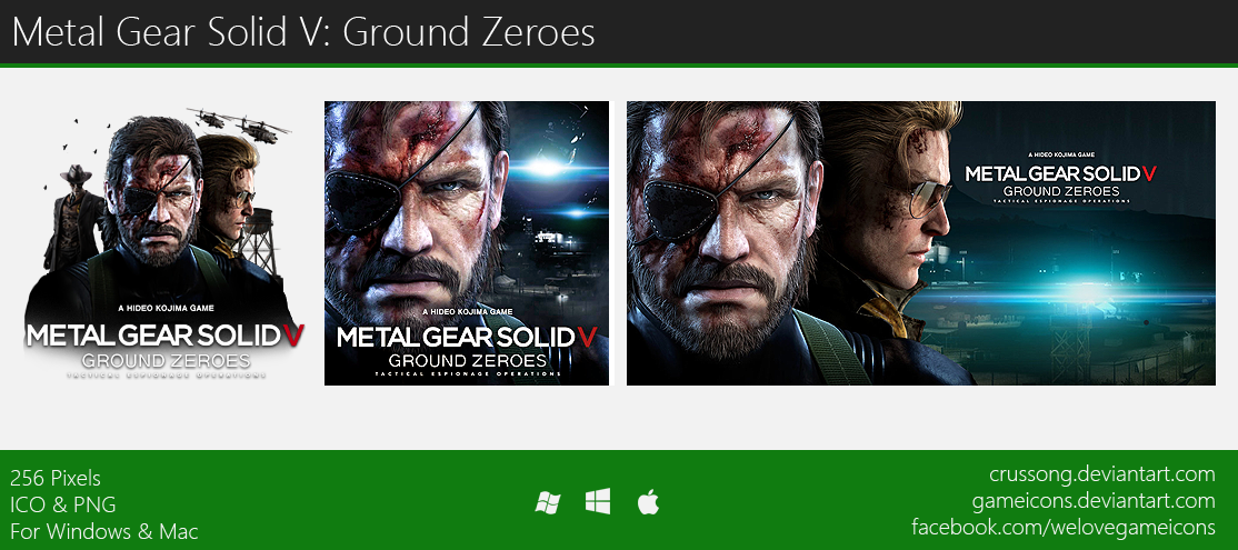 Metal Gear Solid V: Ground Zeroes - Icon by Crussong