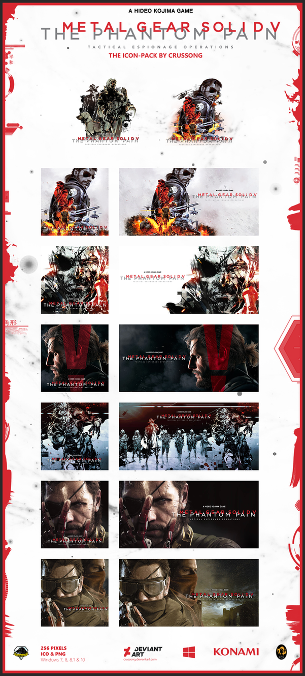 Metal Gear Solid V: The Phantom Pain - Icon-Pack by Crussong