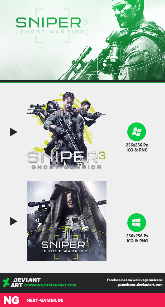 Sniper: Ghost Warrior 3 - Icon by Crussong
