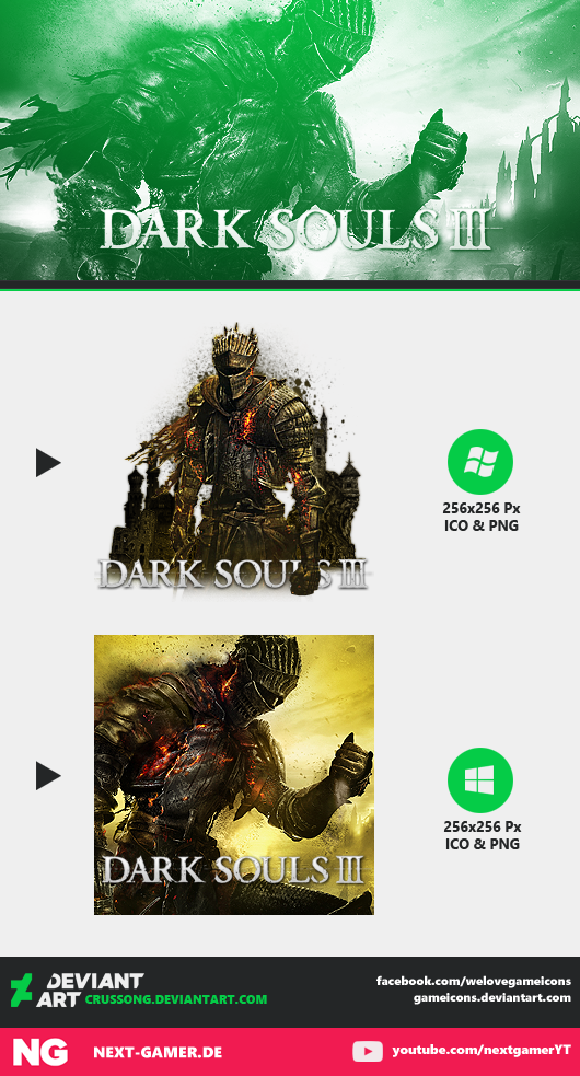 Dark Souls III - Icon by Crussong