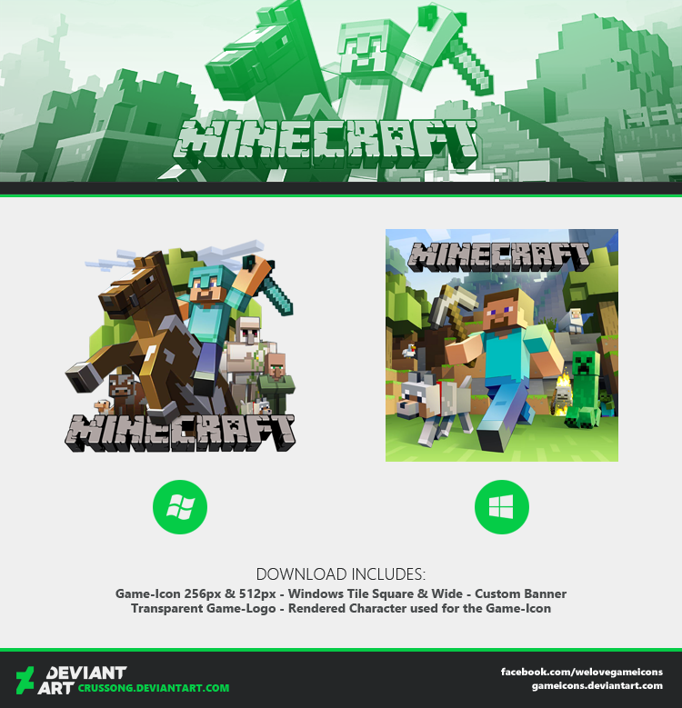 Minecraft - Icon + Media by Crussong on DeviantArt