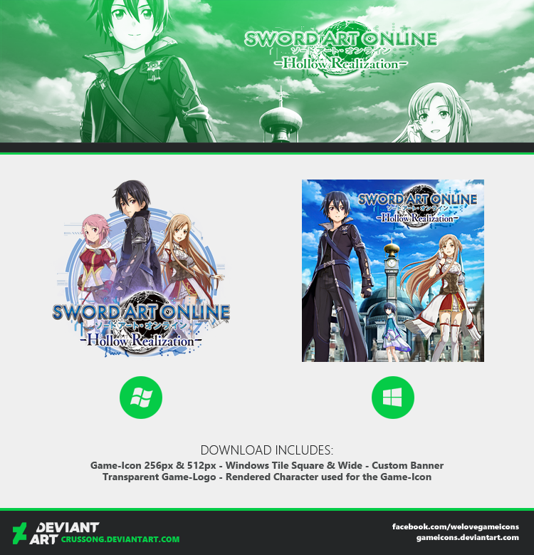 Sword Art Online Hollow Realization - Icon + Media by