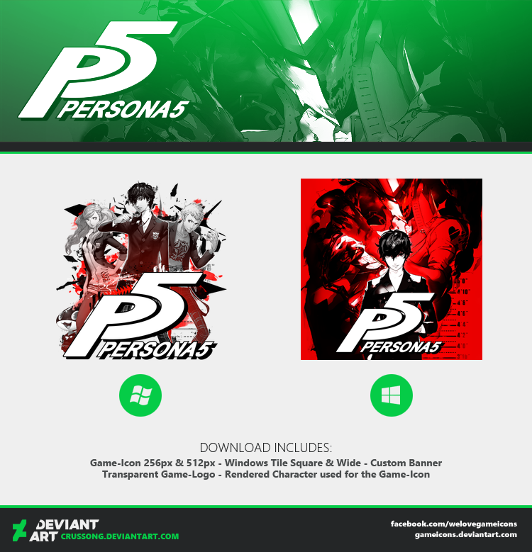 Persona 5 - Icon + Media by Crussong on DeviantArt