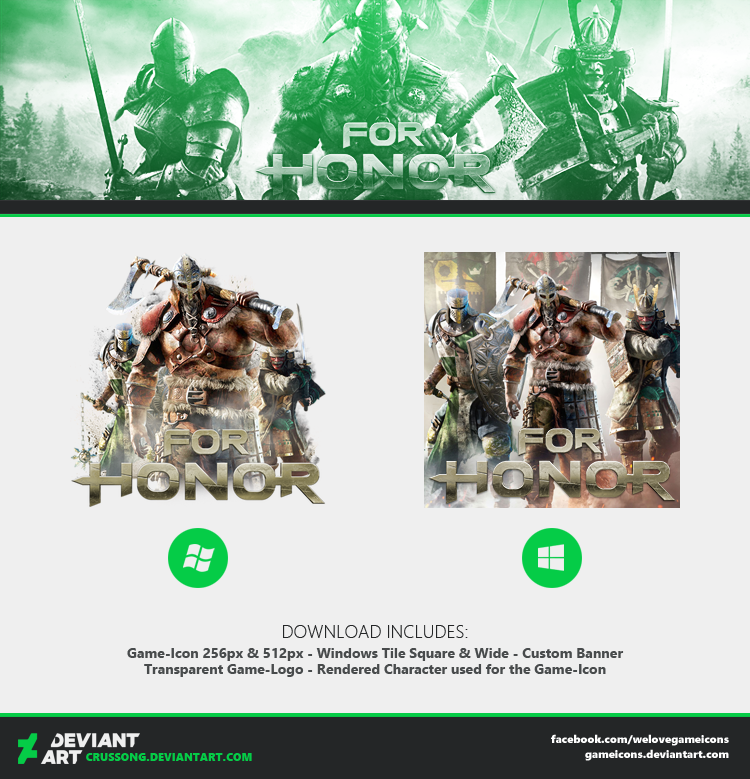 For Honor - Icon 2 + Media by Crussong