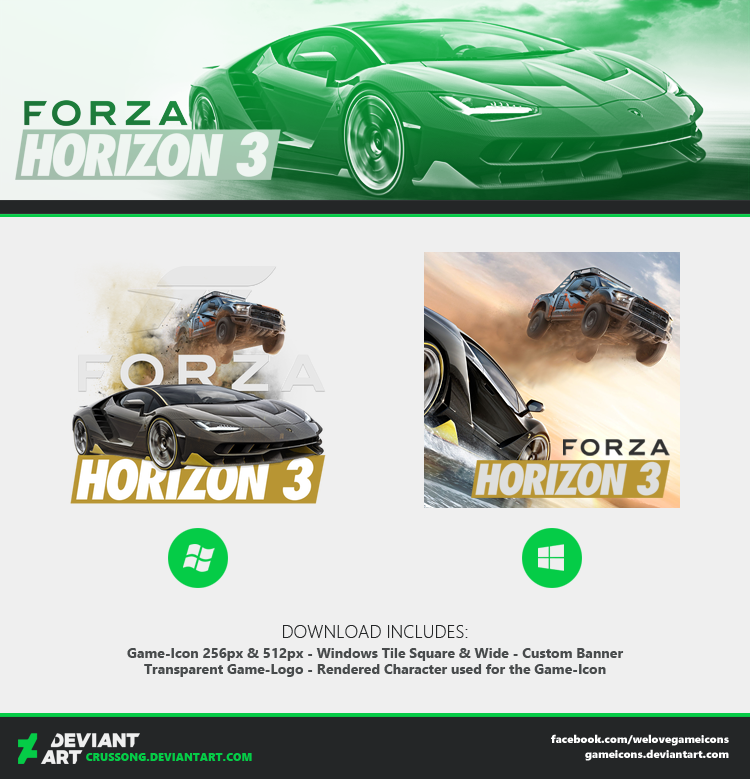 Forza Horizon 3 Icon By Crussong On Deviantart