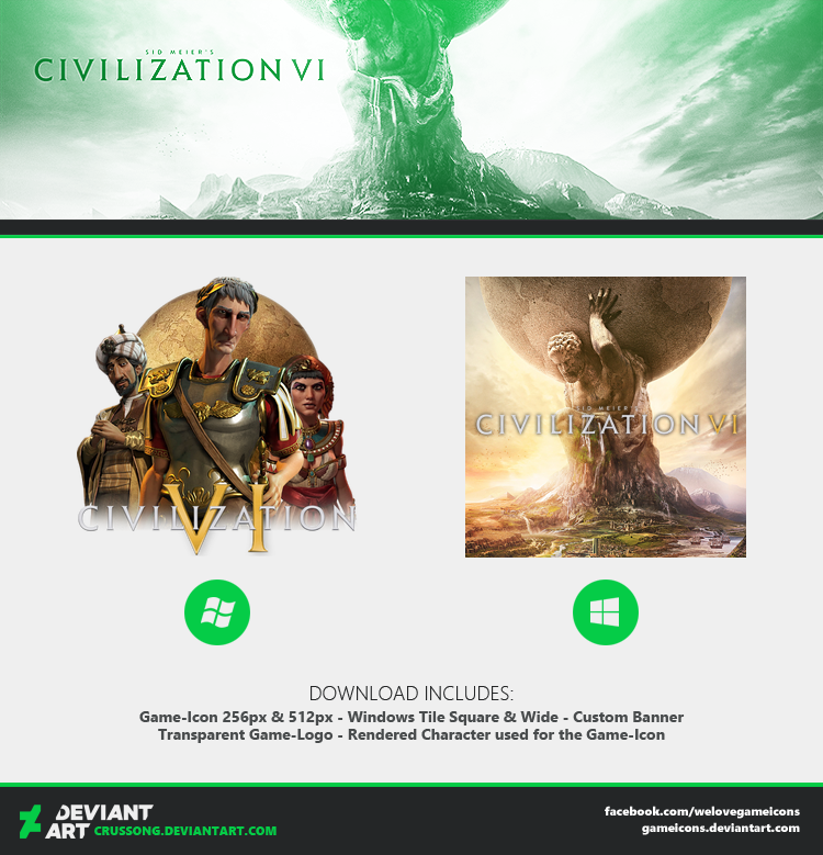Civilization VI - Icon by Crussong