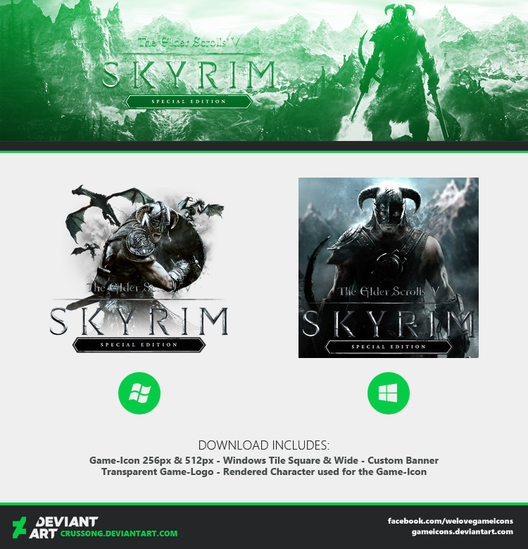 TES V Skyrim Special Edition - Icon by Crussong
