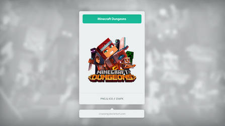 Minecraft Dungeons - Icon by Crussong