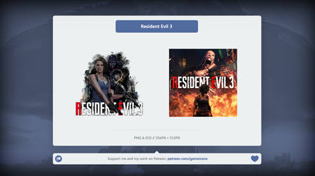 Resident Evil 3 - Icon by Crussong