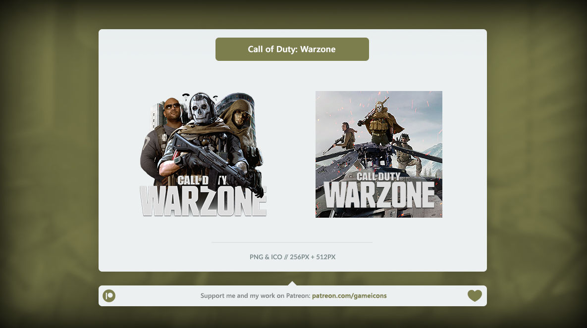 Call Of Duty Warzone Icon By Crussong On Deviantart
