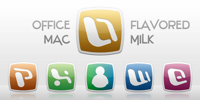 Office:Mac Flavored Milk Icons by InterestingJohn