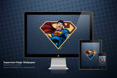 Superman Rage Wallpaper Collection