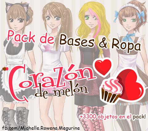 Pack de Bases Y Ropa de Sucrette  [Actualizado!] by MichelleMegurine