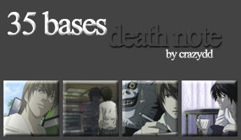 Icon bases: Death Note by CrazyDD