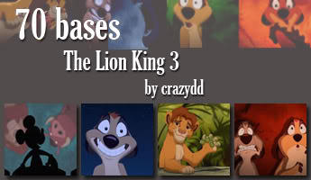 Icon bases: The lion king 3 by CrazyDD
