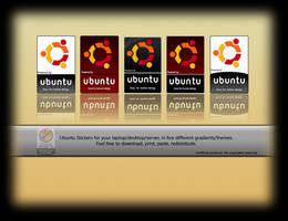 Ubuntu Stickers by deviantdark
