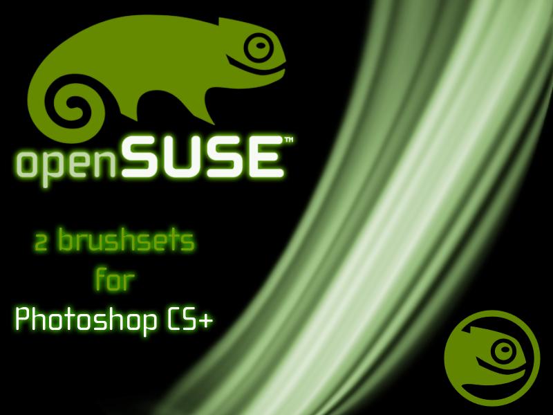 openSUSE logo brushset by deviantdark