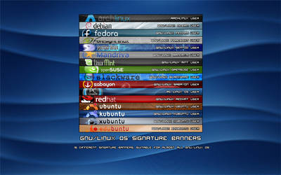 GNU-Linux OS Singature Banners