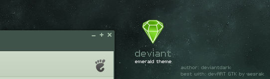 deviant emerald theme