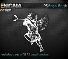 Grunge Angel Brush by Enigma-Design