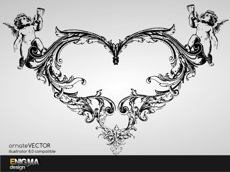Ornate Vector Heart by Enigma-Design