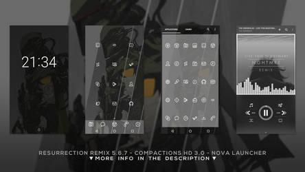 Resurrection Rm - Compaction 3.0 - Nova Launcher by DD-921