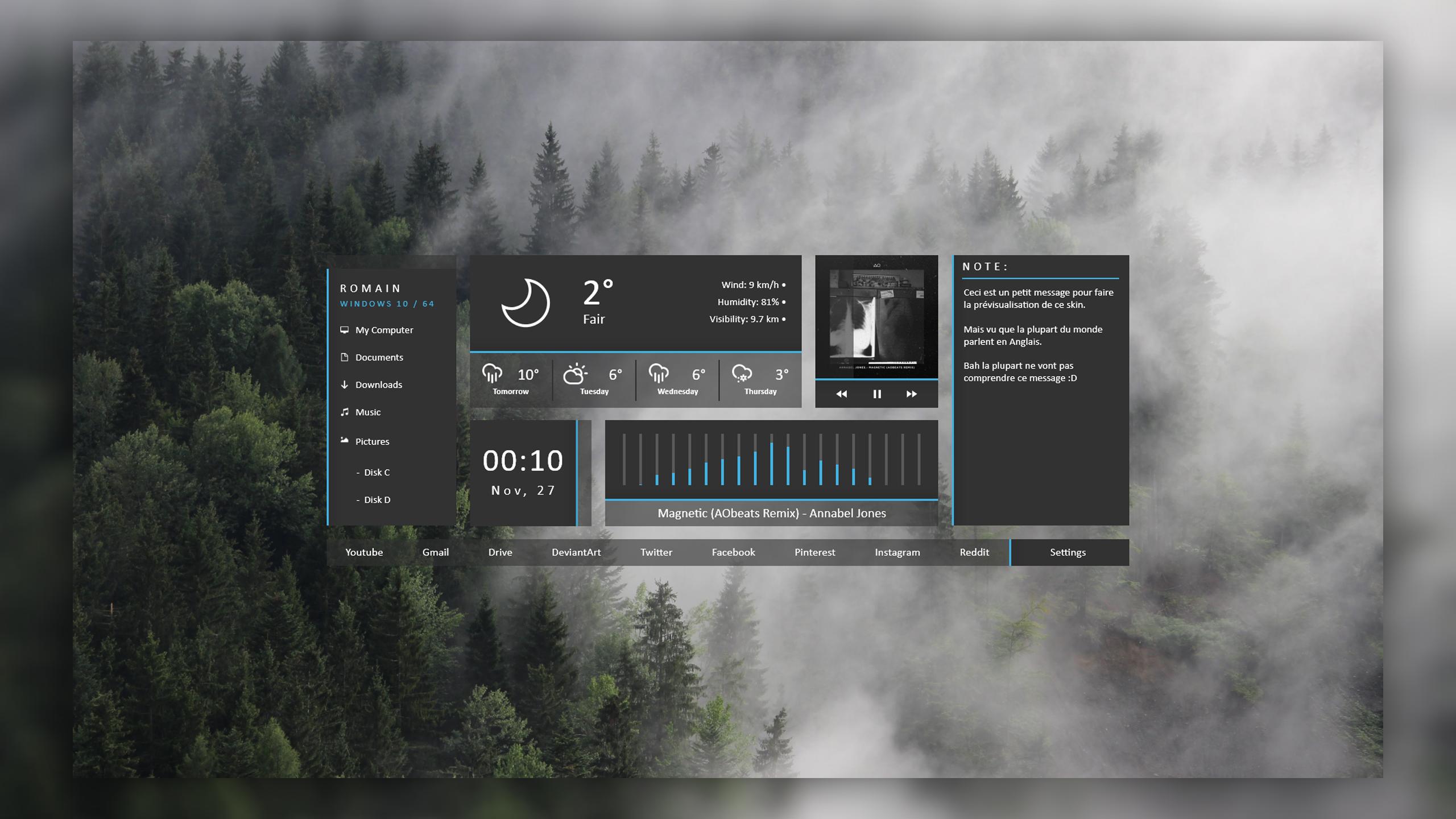 [Rainmeter] NUXHD / 1.1 by DD-921
