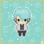 Mystic Messenger - V Chibi Pixel Art (Remake)