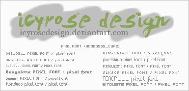 Pixelfont by icyrosedesign