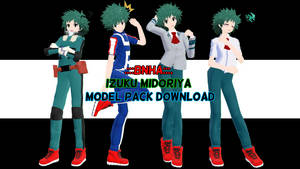.::\BNHA/::. Tda Izuku Midoriya Model PACK DL!!! by PRESTONTHECAT