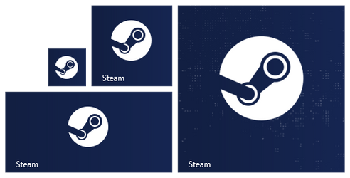 Steam Modern UI Tile Icon for Windows 8 and 8.1