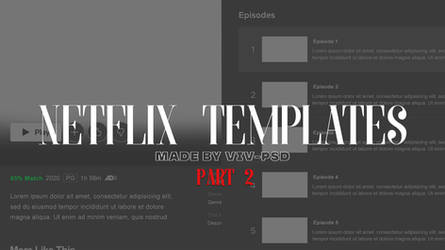 Netflix Template (PART 2) Episode List
