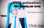 [MMD animation] Miku is cleaning your screen