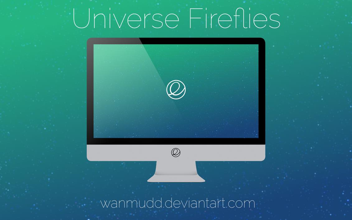 Universe Fireflies (With elementaryOS Logo) by WanMudD