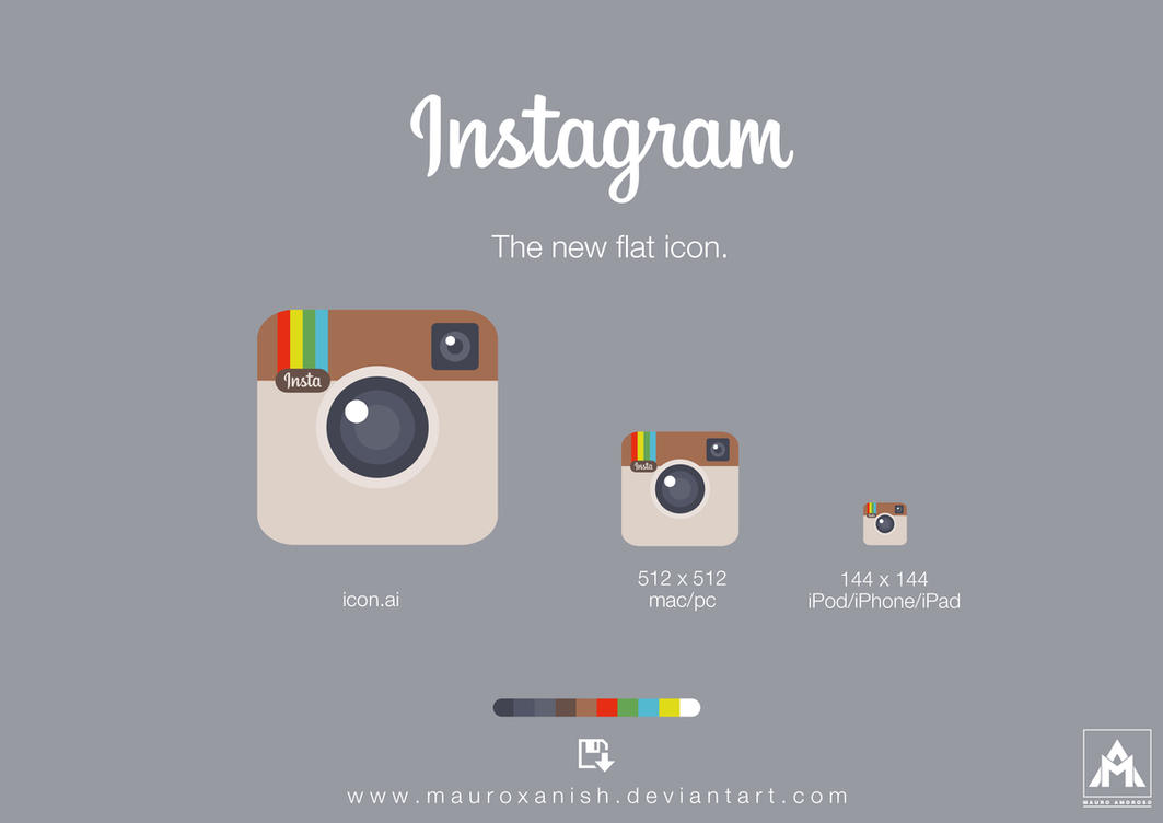Instagram the new flat icon by mauroxanish