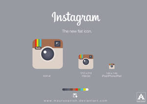 Instagram the new flat icon